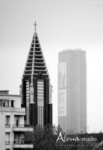 La ville de Paris - Effet brume lointaine