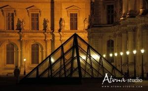 La ville de Paris - Le Louvre Pyramide Souvenir