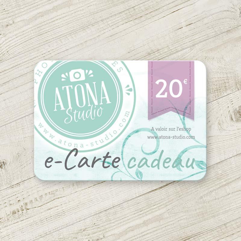 Carte cadeau 20€ Atona Studio