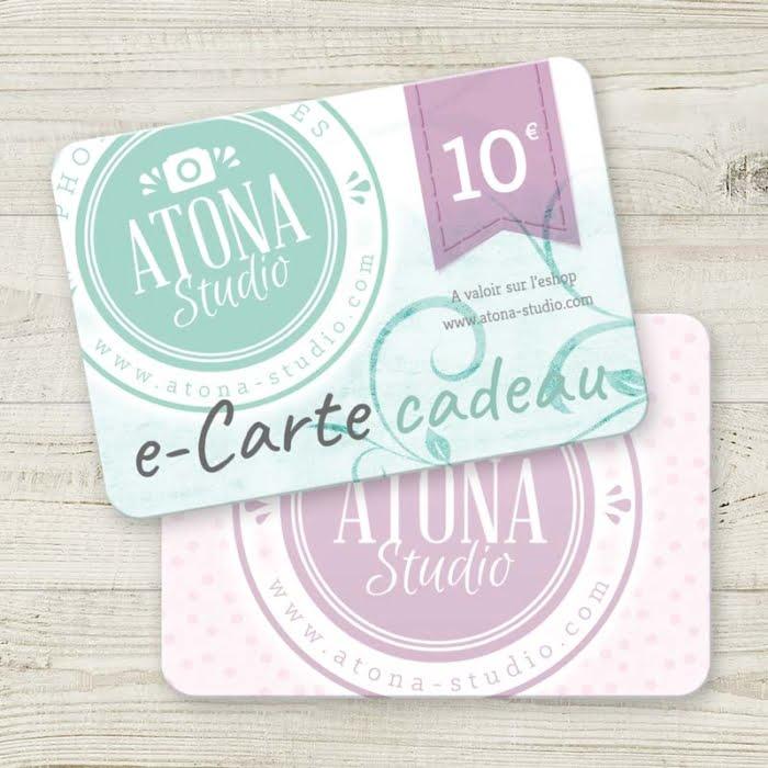 eCartes cadeau Atona Studio