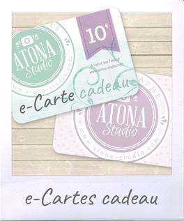 eCarte cadeau Atona Studio