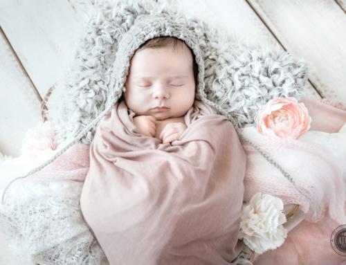 Séance naissance : Pink flowers