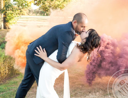 Mariage Nature et Fumigènes