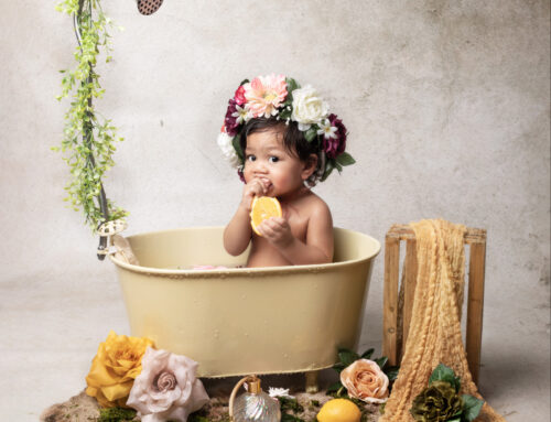 Séance bain de lait Mya !