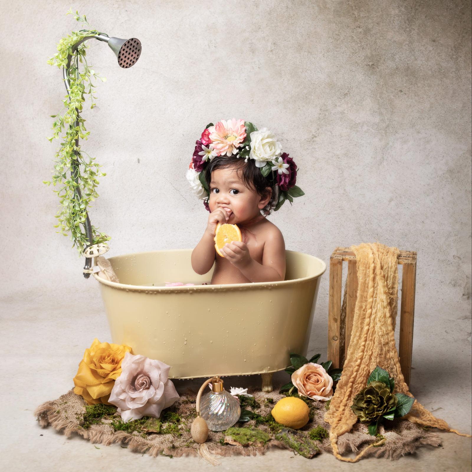Séance bain de lait Mya